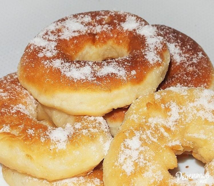 Вкусные пончики на дрожжах с фото пошагово