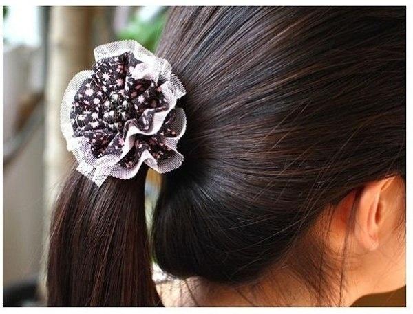 Красивая резинка для волос