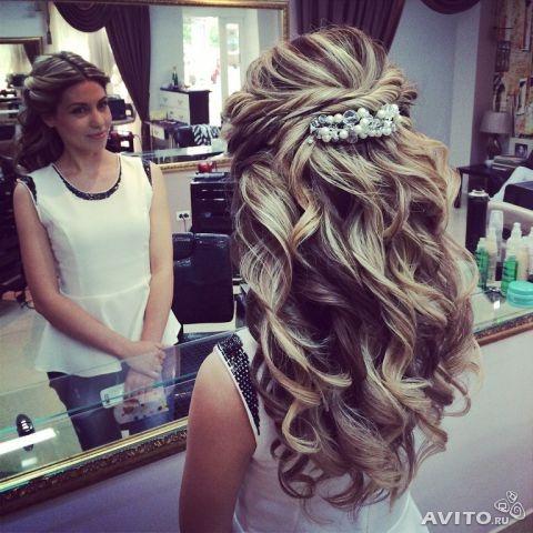 Вечерние прически локоны на длинные волосы