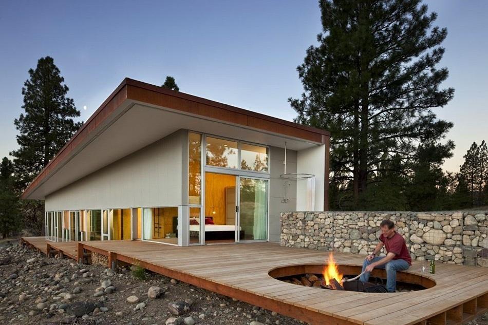 Наружный дизайн одноэтажных домов