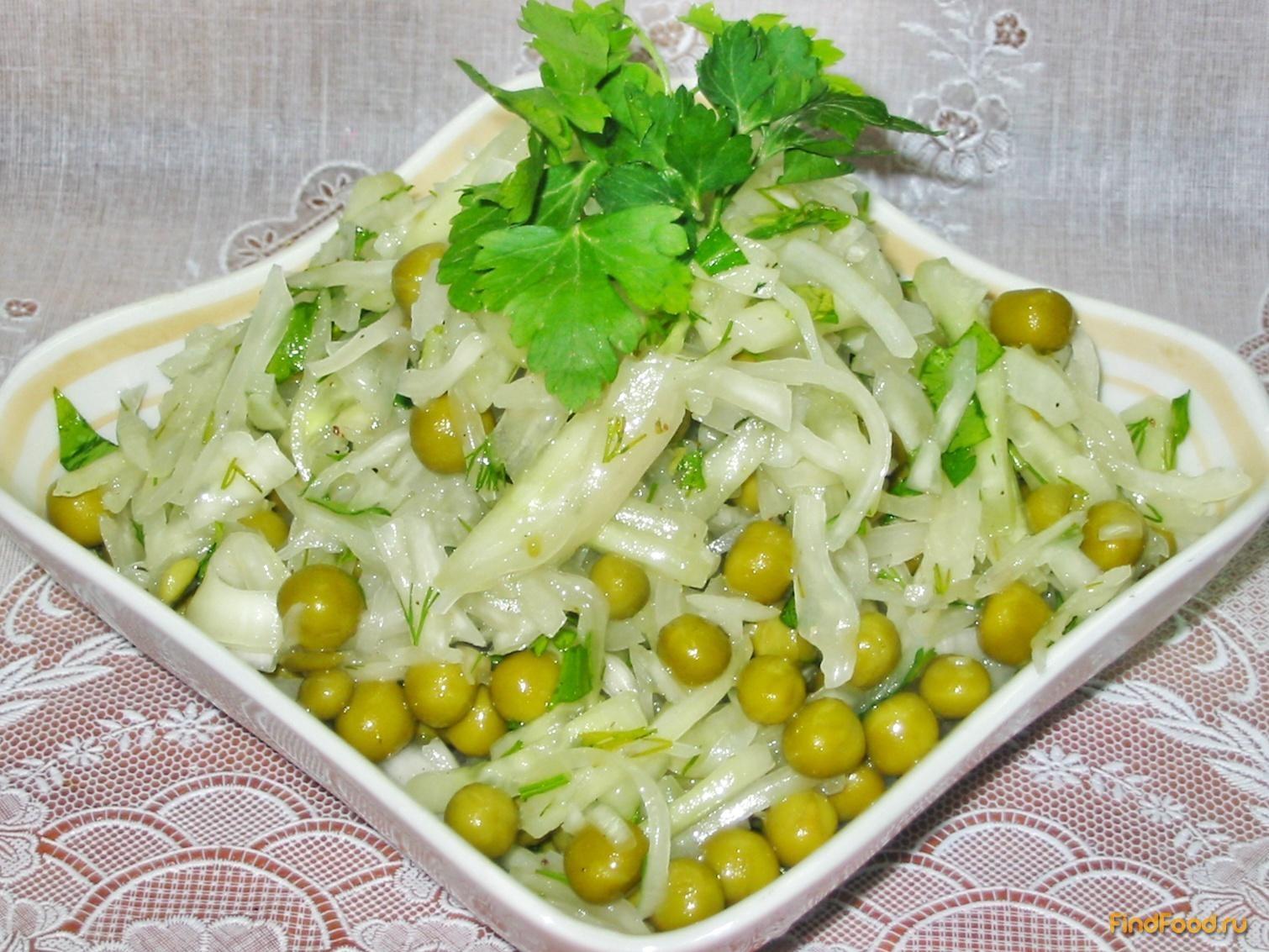 Салат из горошка консервированного рецепт с