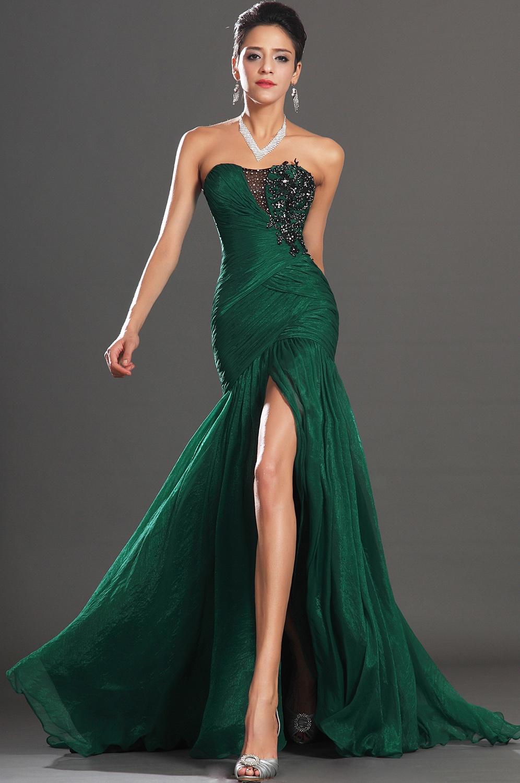 Фото зеленых вечерних платьев