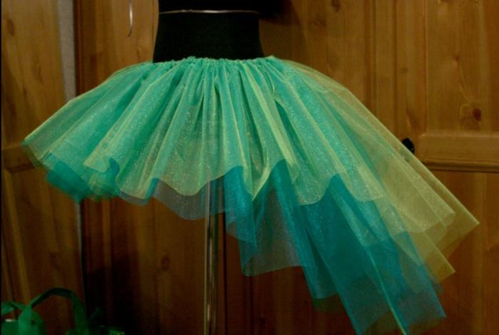 Как сшить пышную юбку из фатина с подкладом