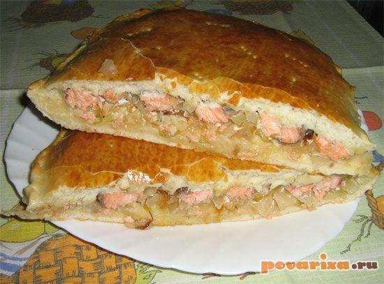 Пирог с семгой рецепт пошаговый с