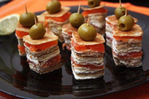 Бутерброды на праздничный стол с пошагового