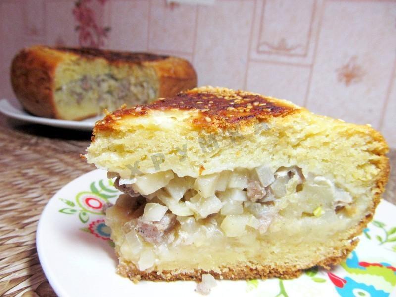 Пирог с фаршем и картошкой в мультиварке рецепты с