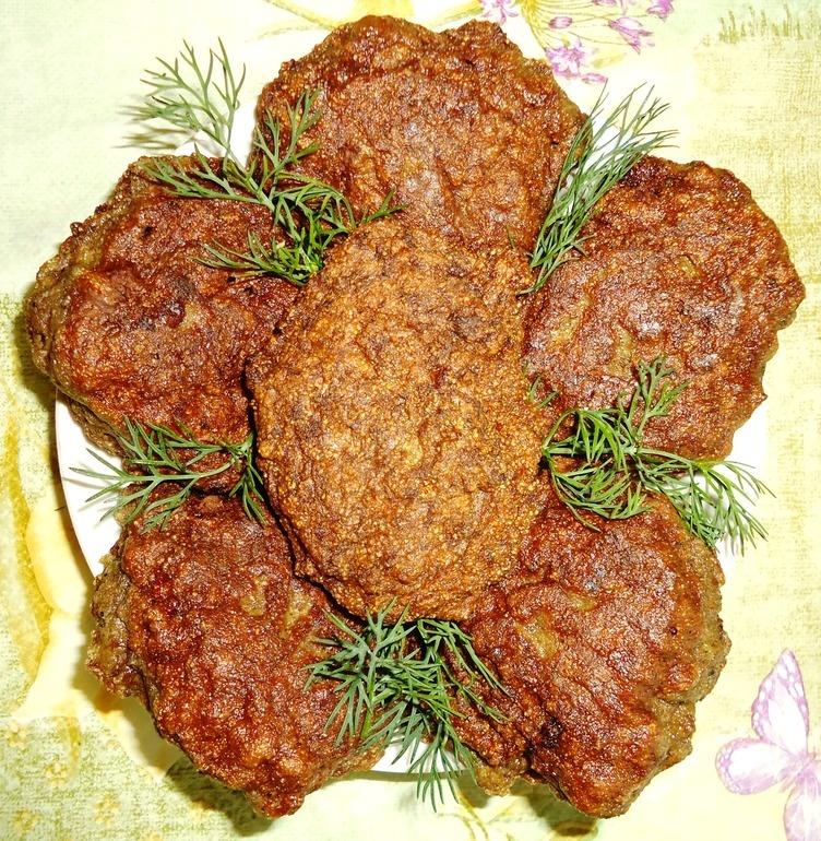 Печеночные котлеты рецепт пошагово с манкой