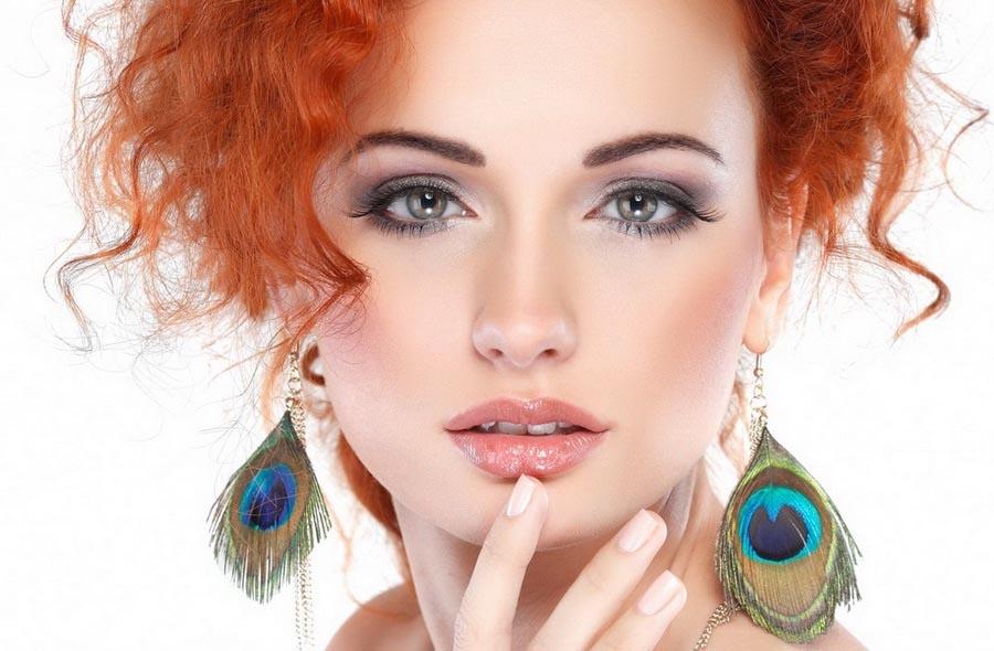 Вечерний макияж для рыжих с зелеными глазами