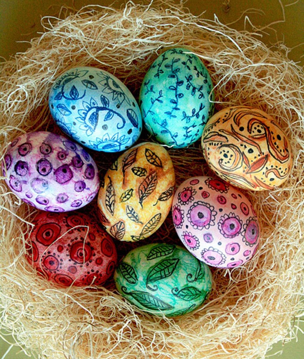 Идеи для покраски яиц на пасху своими руками