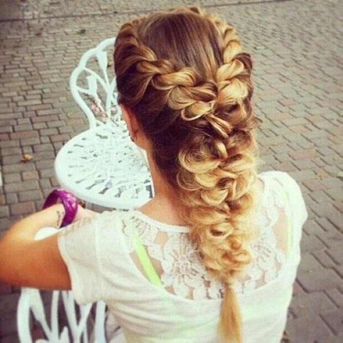 Прическа из косичек на длинные волосы для девочки