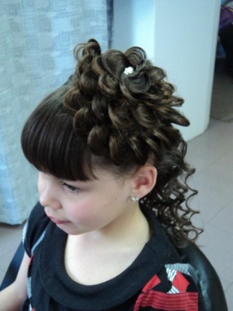 Причёски на длинные волосы с чёлкой ребёнка