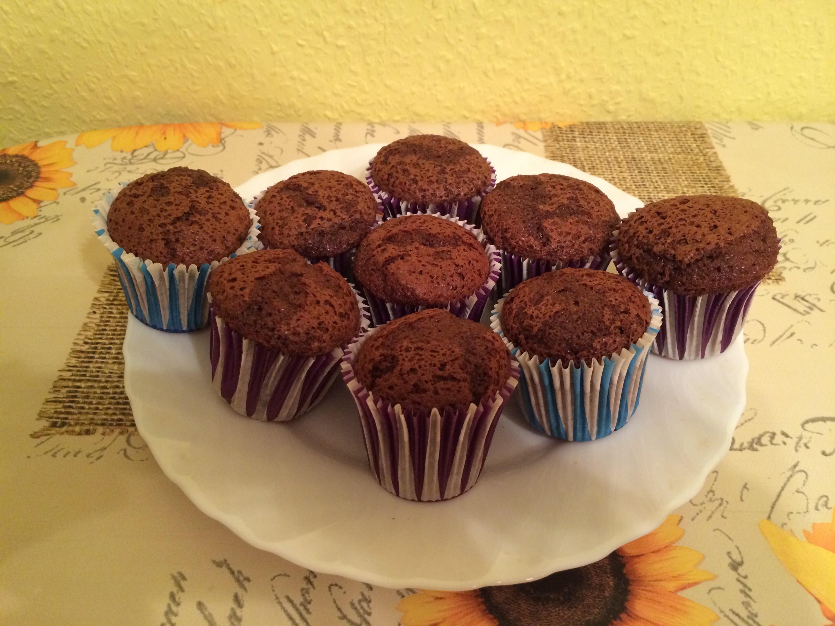 Рецепт капкейков шоколадных с начинкой с пошагово в