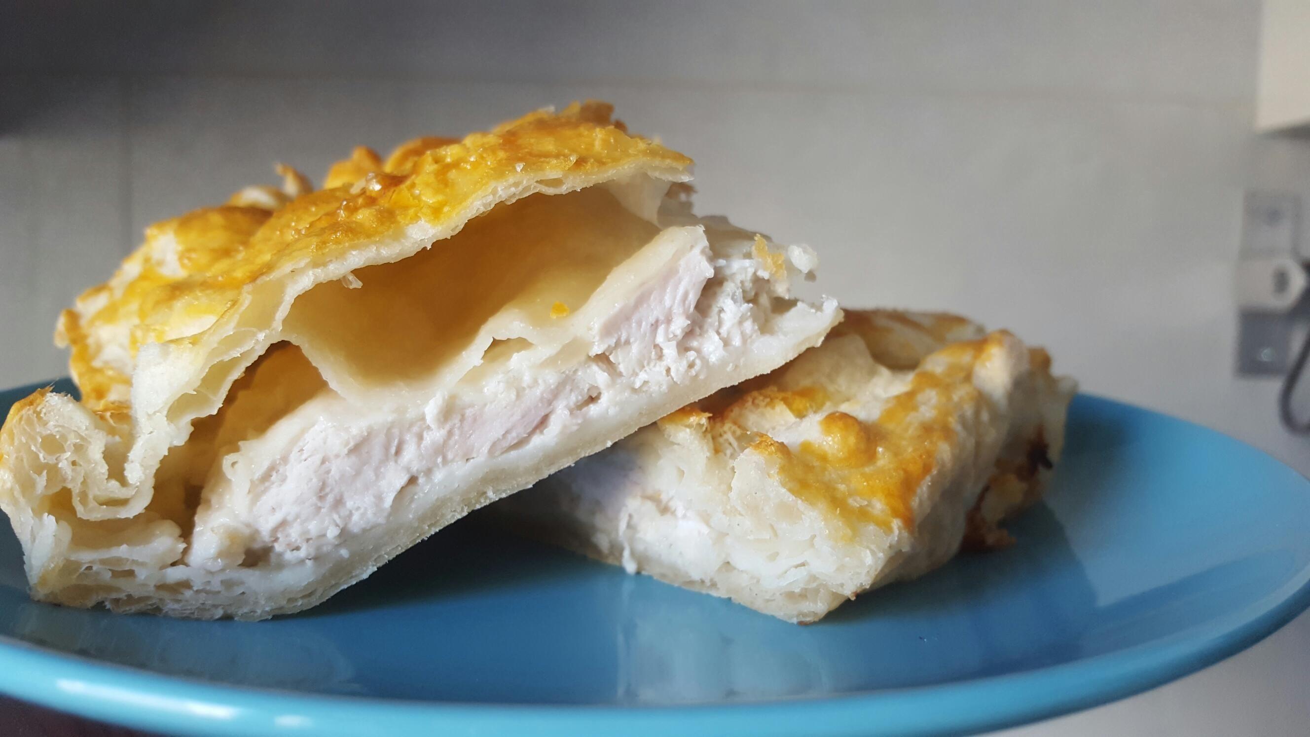 Пирог с курицей из слоеного теста в мультиварке рецепты с фото