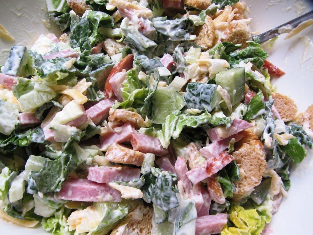 Салат с ветчиной и китайской капустой рецепт с