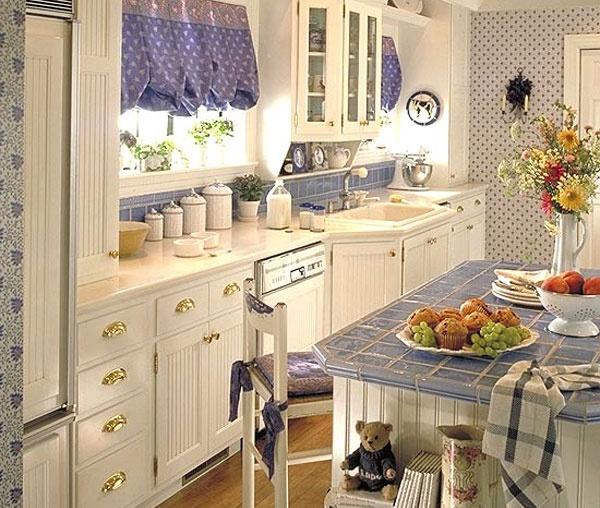 Дизайн кухни лаванда