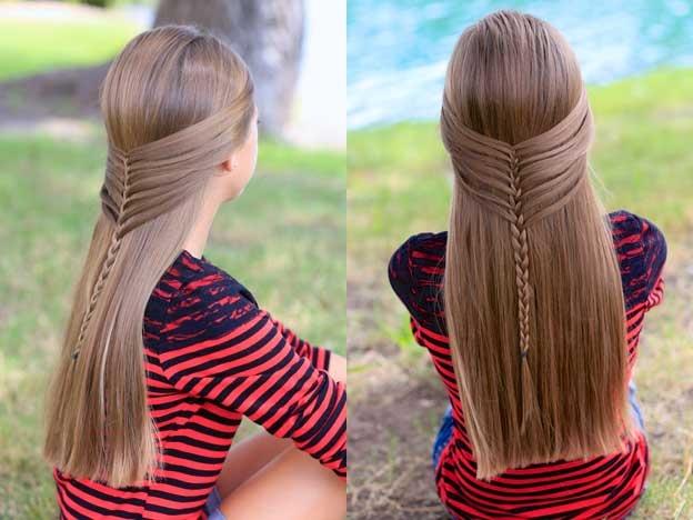 Причёски для девочек для очень длинных волос