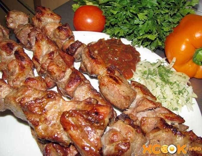 Шашлык на кефире из свинины рецепт пошагово и с помидорами