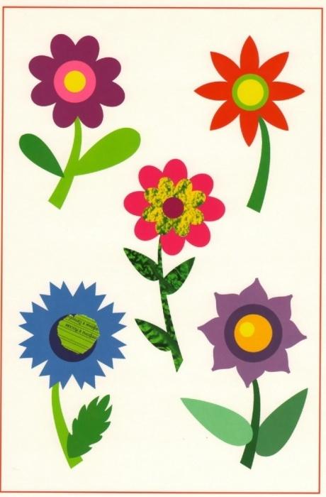 Аппликации цветов для детей