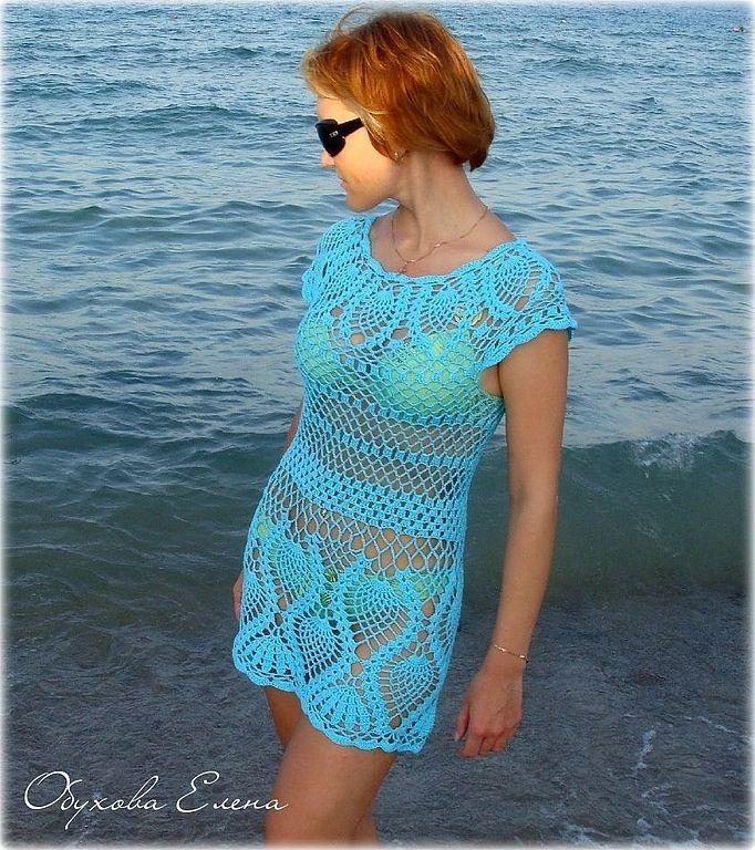 Платья пляжные крючком