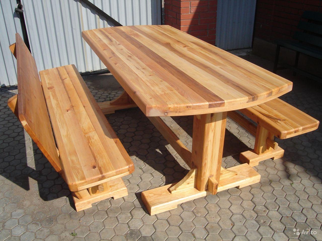 Деревянный стол для дачи своими руками