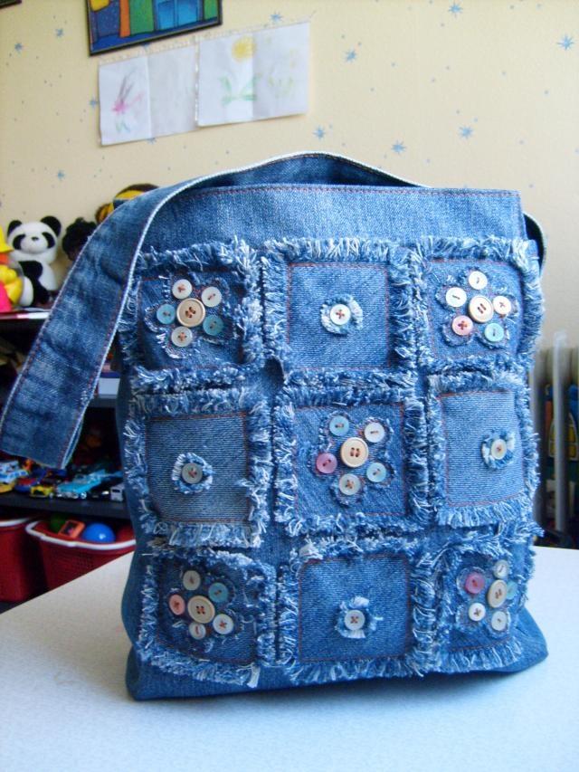 Картинки джинсовых сумок своими руками