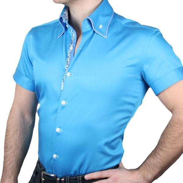 Бирюзовая рубашка однотонная - карточка от пользователя Кибальник Ольга в Яндекс.Коллекциях