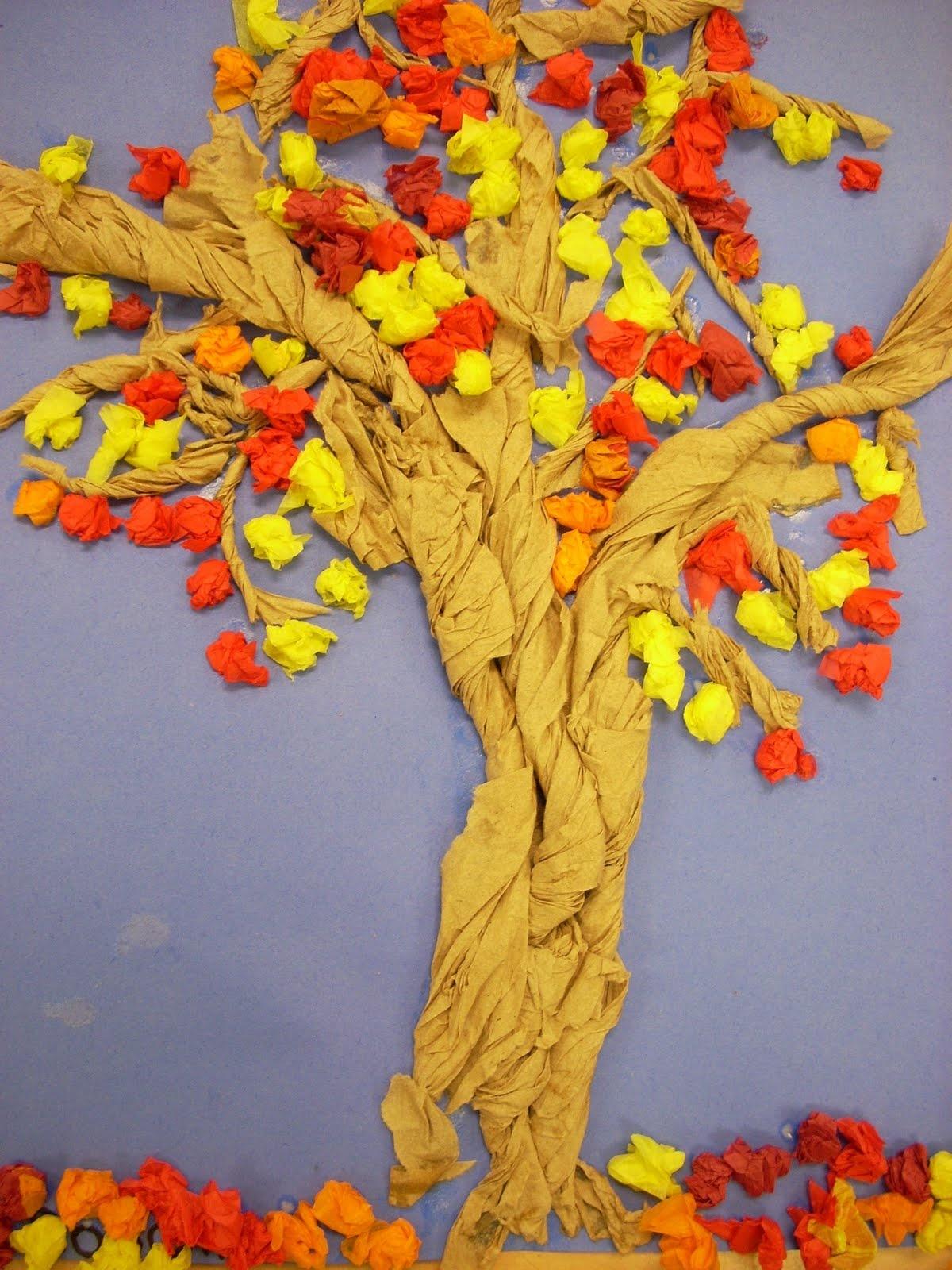 Как сделать осеннее дерева