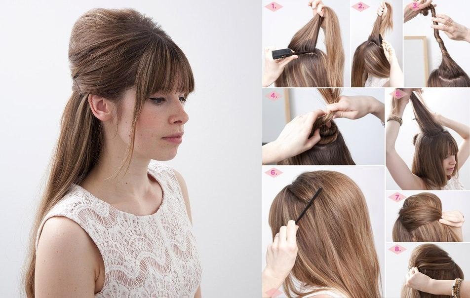"""Как сделать начес на средние, длинные, короткие волосы - фото, видео Причёска """"бабетта"""" с начёсом - карточка от пользователя ink"""
