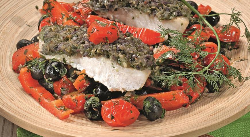 Пошаговый рецепт рыба с овощами
