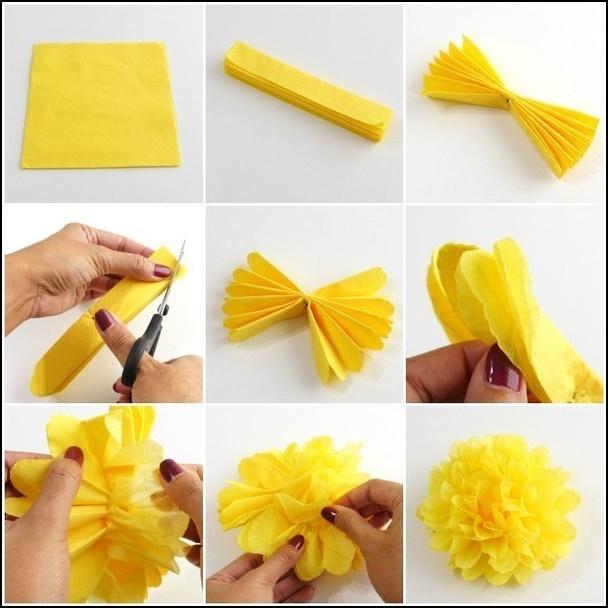 Как сделать цветы из гофрированной бумаги на 9 мая