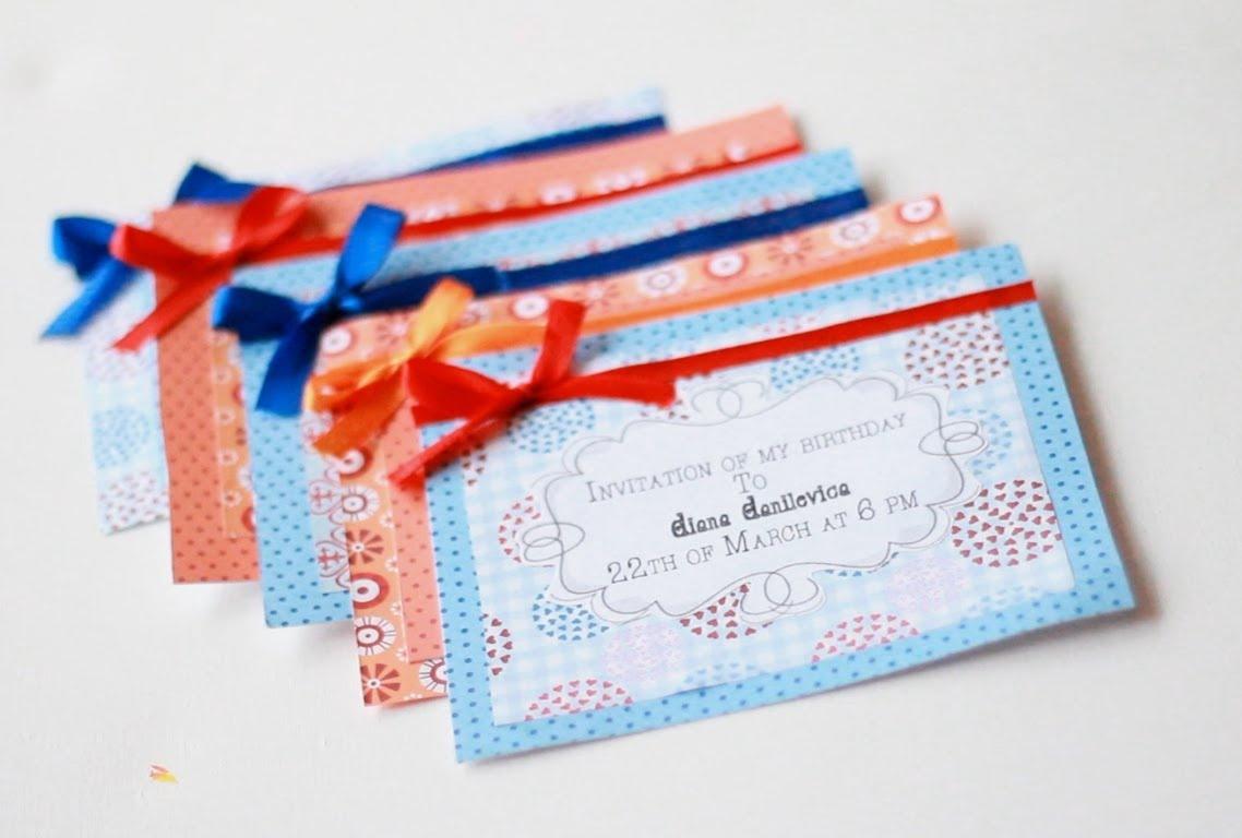 Открытки приглашение на день рождение своими руками