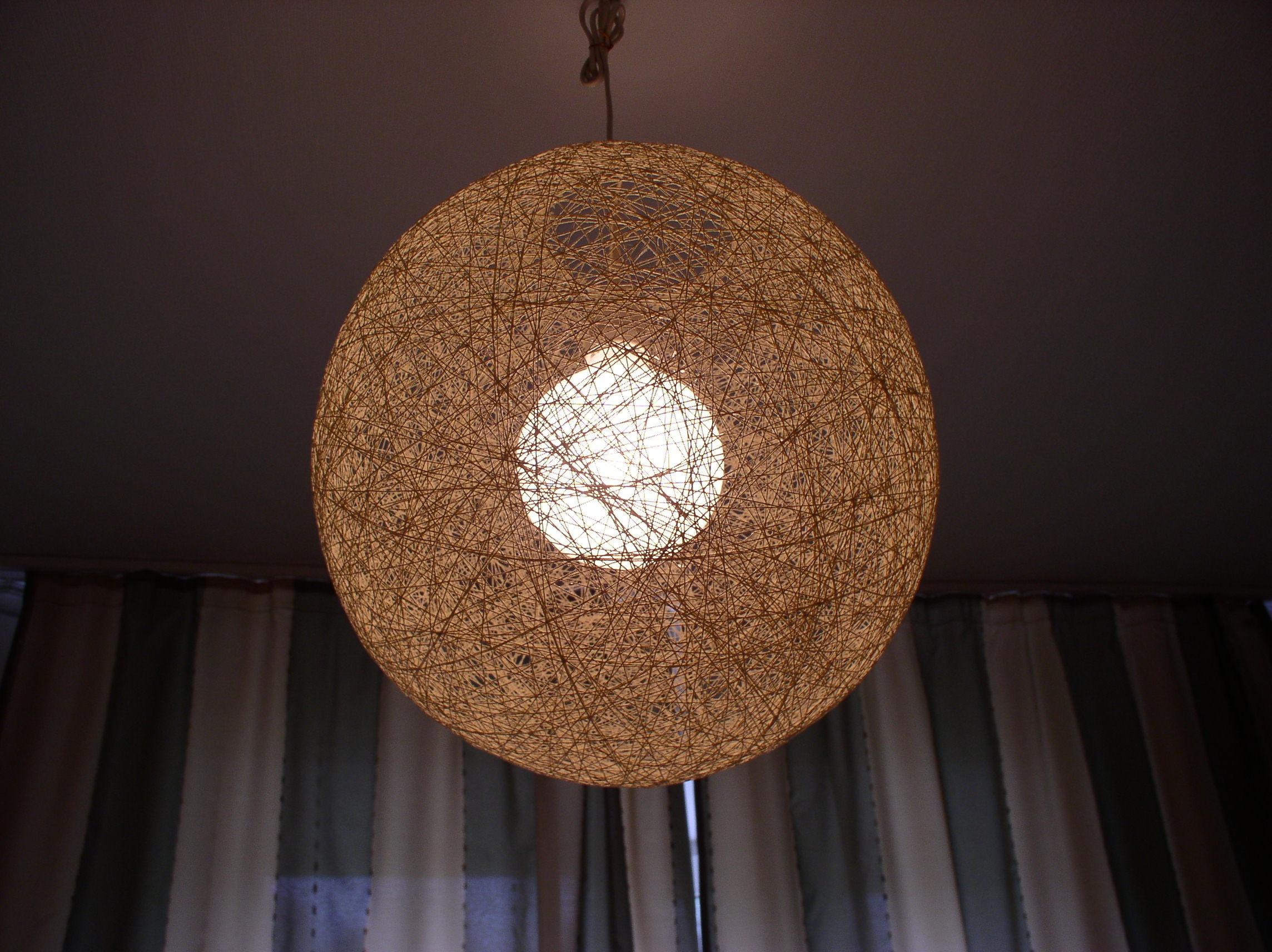 Светильник из ниток Инструменты и материалы
