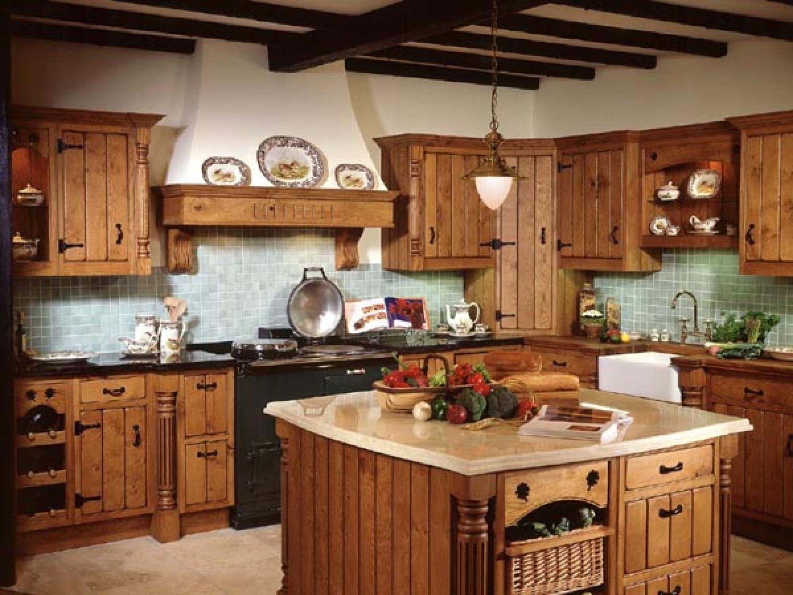 Дизайн интерьера кухни в деревенском стиле