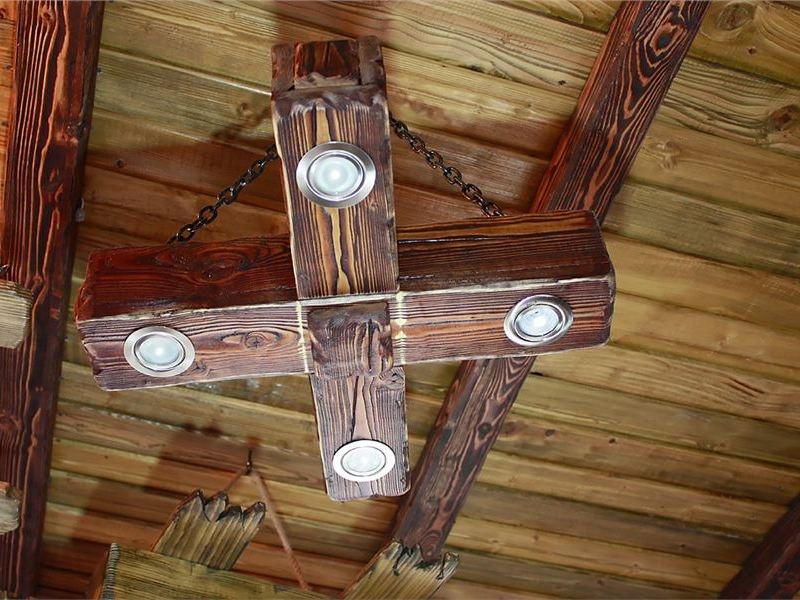 Люстры светильники из дерева под старину