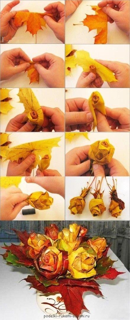 Как сделать поделку розу