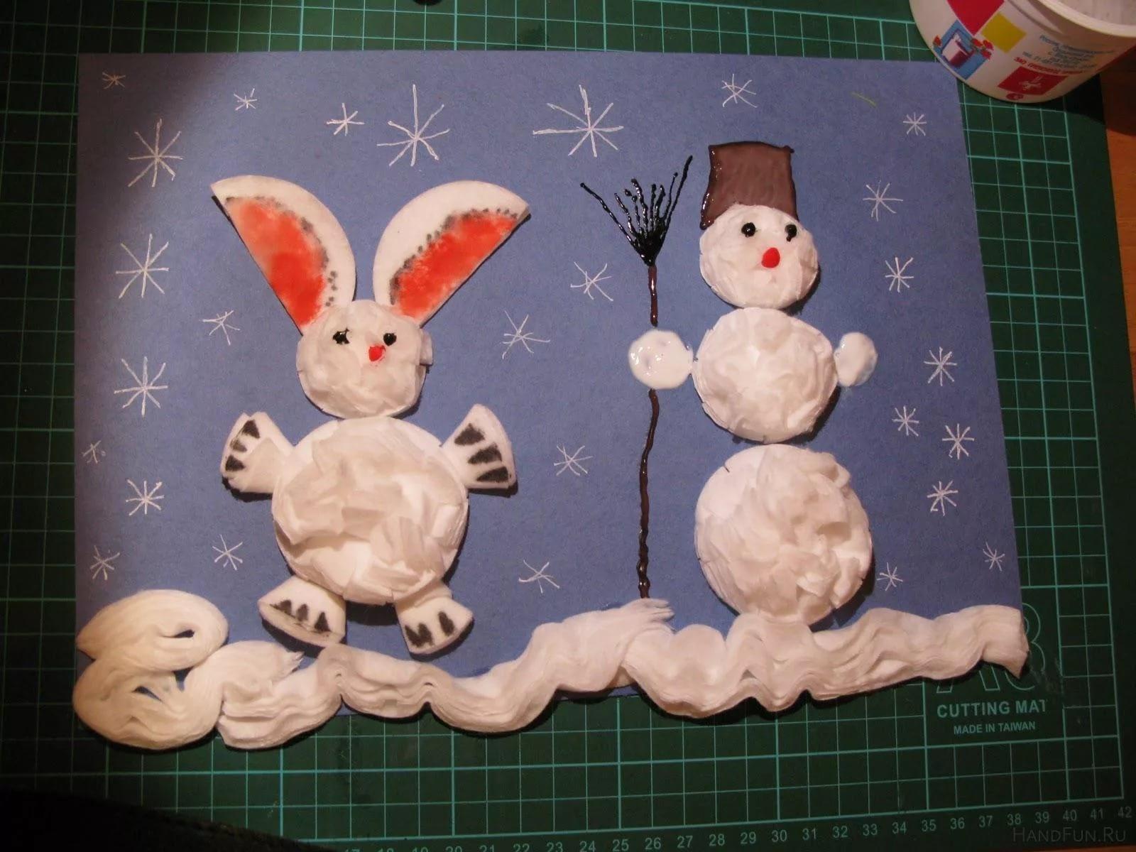 Зимние поделки своими руками для детей