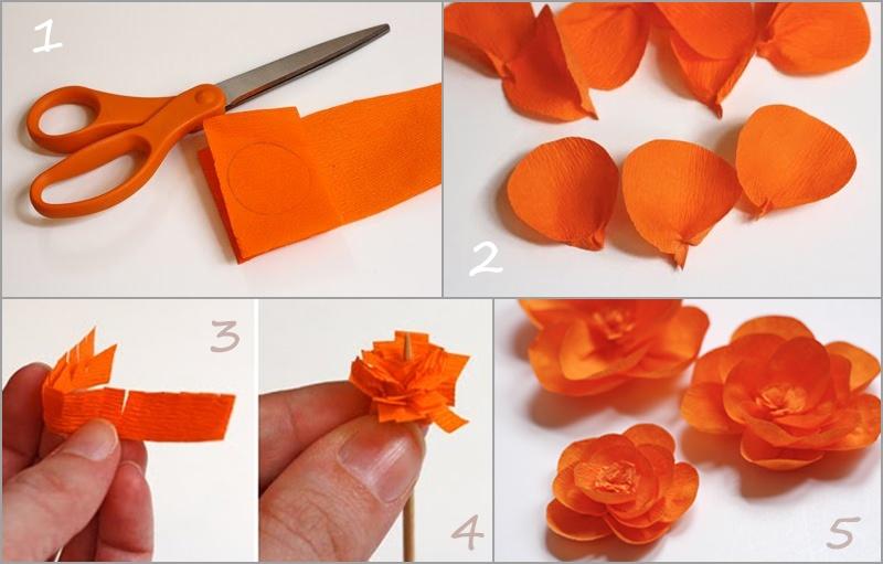 Легкие и красивые цветы своими руками