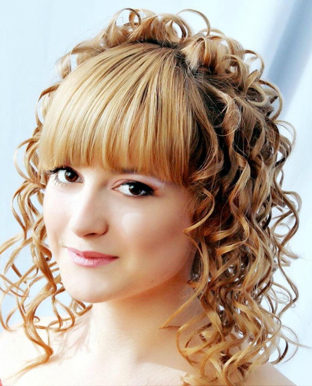 Причёски на средние волосы с чёлкой на торжество для детей