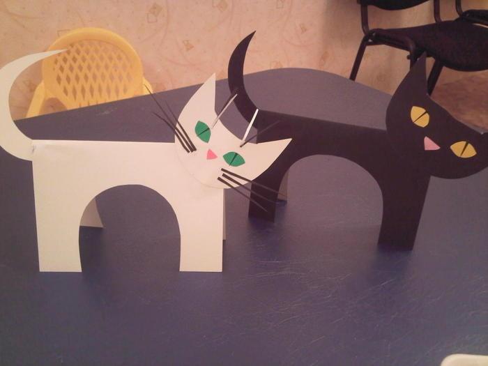 Поделки кошек из бумаги