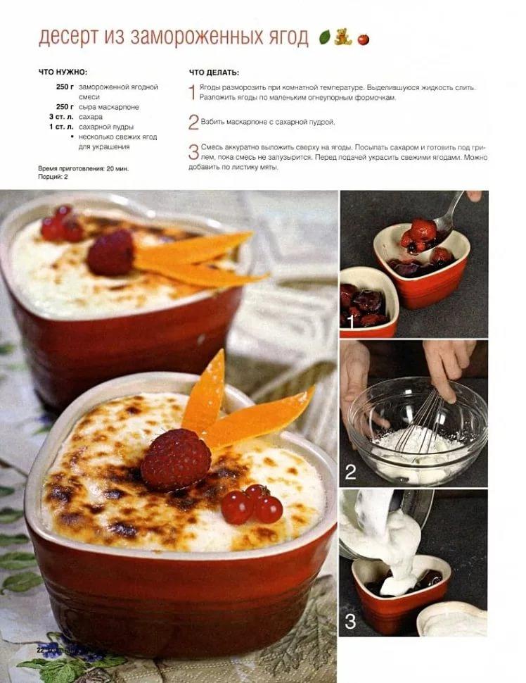 Рецепты десертов пошаговые