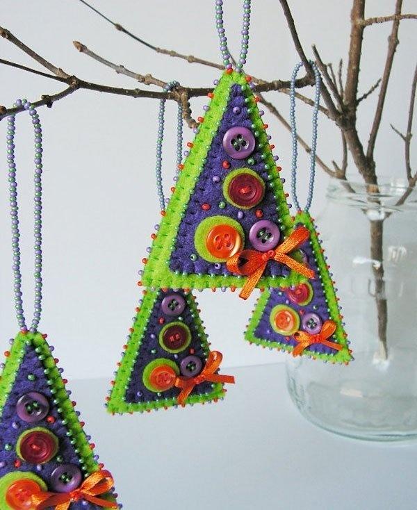 Поделки новогодних украшений своими руками