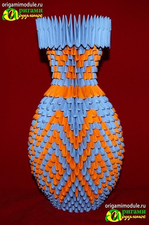 Вазы из модулей оригами схема с пошаговым