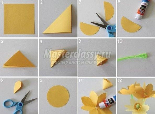 Поделки из цветного картона своими руками поэтапно