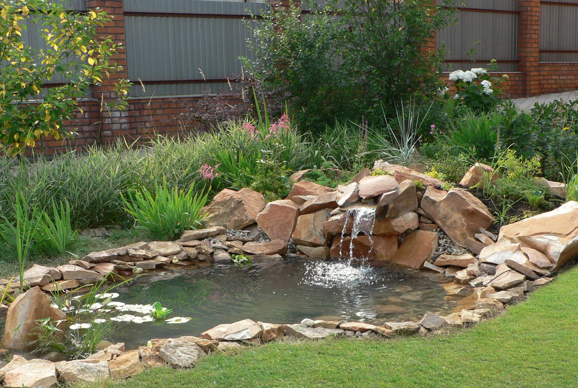Как сделать пруд с водопадом
