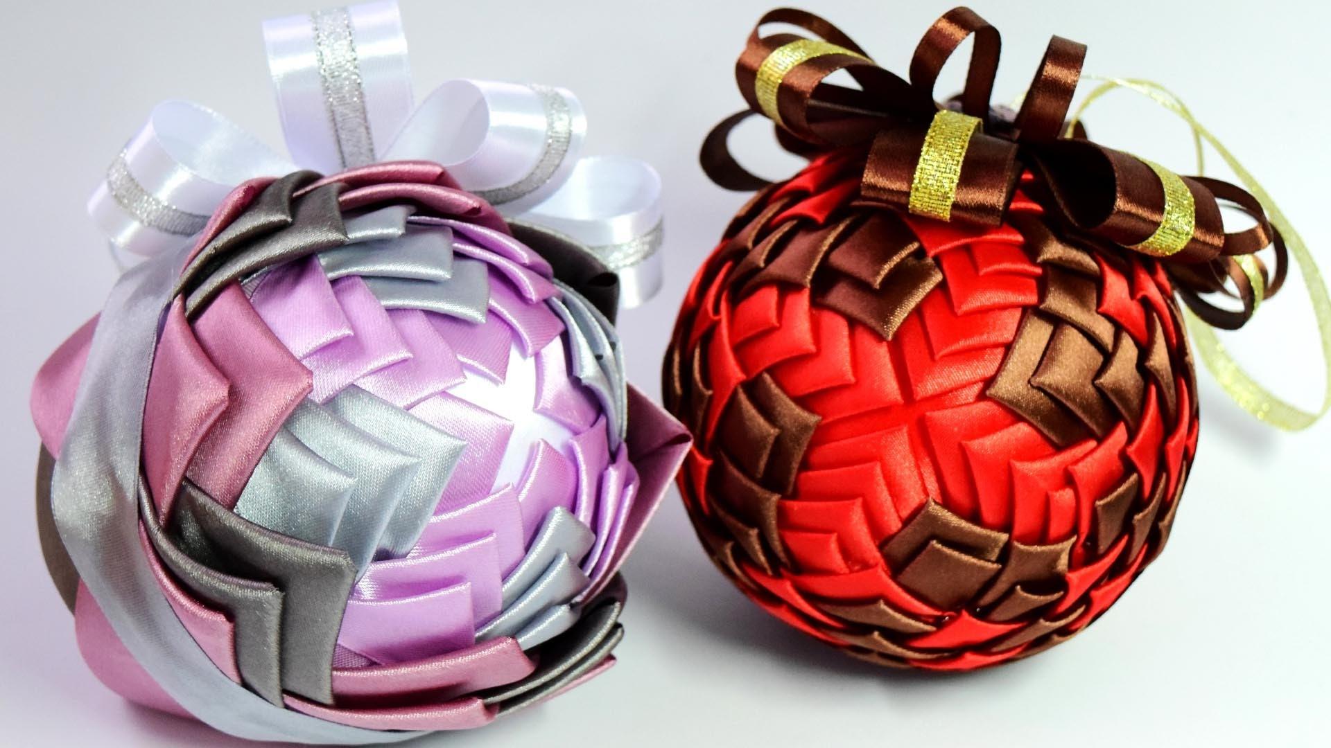 Новогодние подарки своими руками из лент