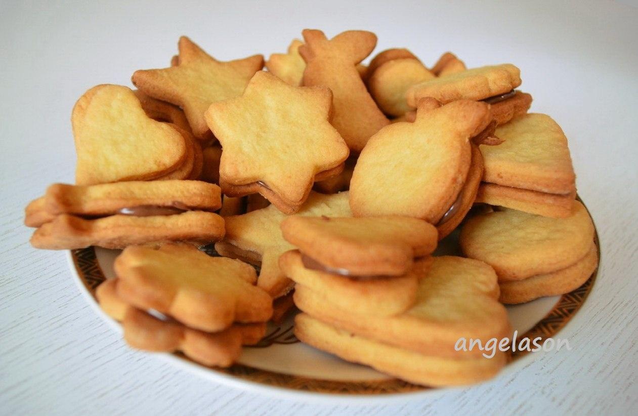 Печенье из песочного теста рецепт с фото пошагово в духовке