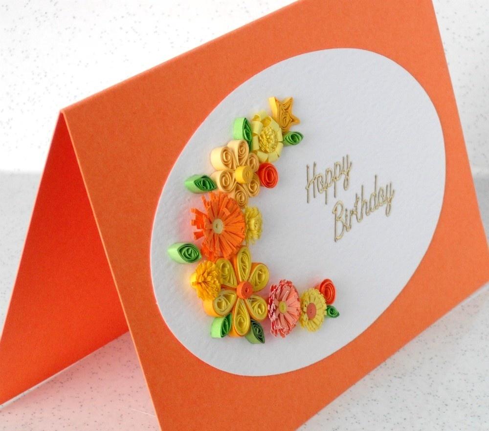 Очень красивая открытка своими руками на день рождения