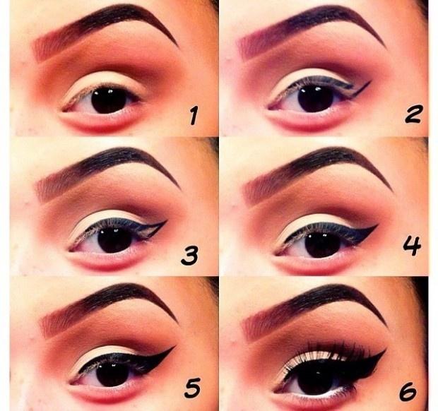 Как сделать стрелки на глазах с тенями