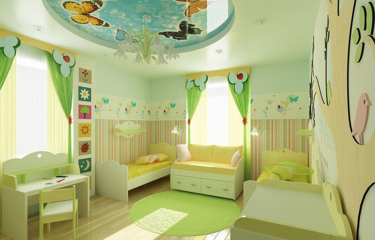 Фото дизайна детской для девочки и мальчика