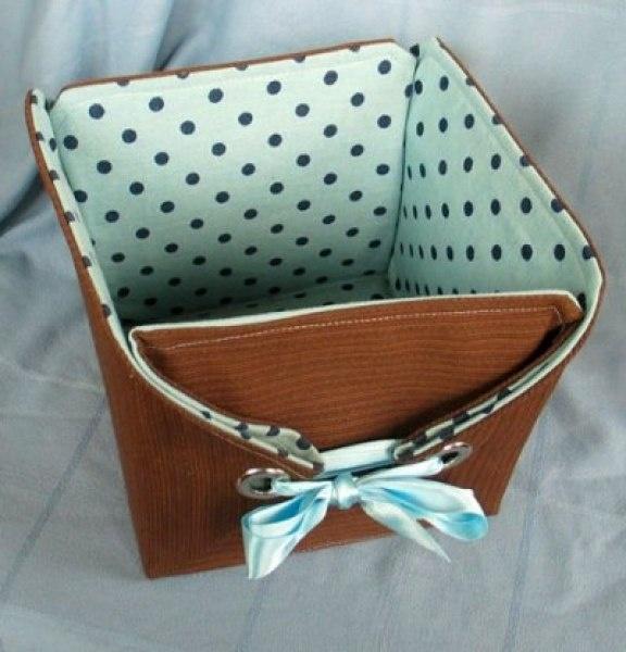 Корзинка для рукоделия из коробки своими руками